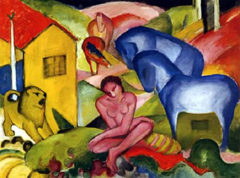 Franc Mark - El Sueño (1912, en exposición Gaguin y el Viaje a lo Exótico)