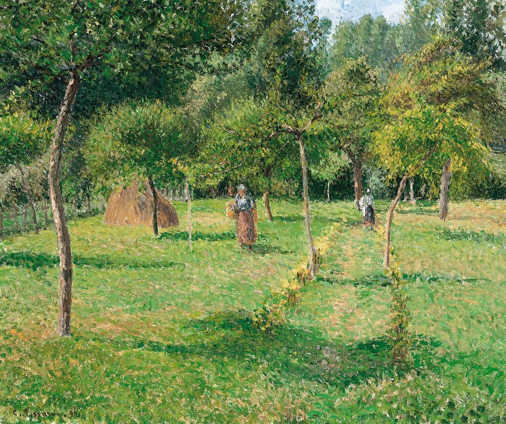 Camille Pissarro - El Huerto en Éragny (1896)