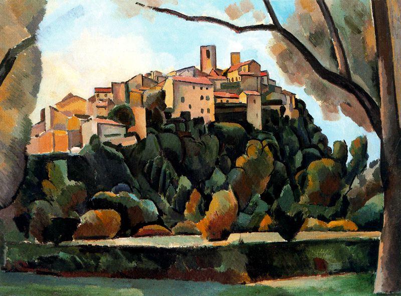 Andre Derain- Vista de Saint-Paul de Vence (1910)