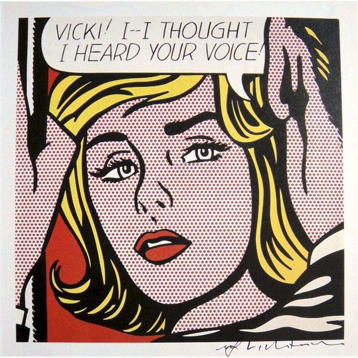Roy Lichtenstein - Vicki (1964)