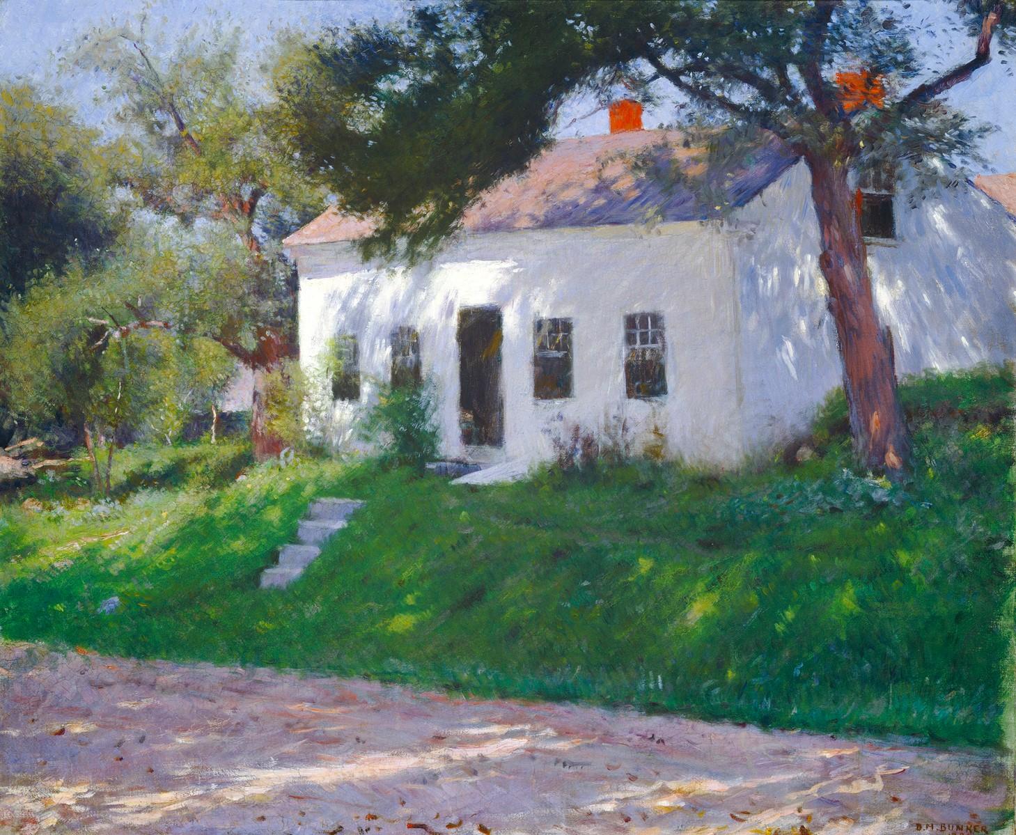 Dennis Miller Bunker - Casa de Campo junto al Camino (1889)