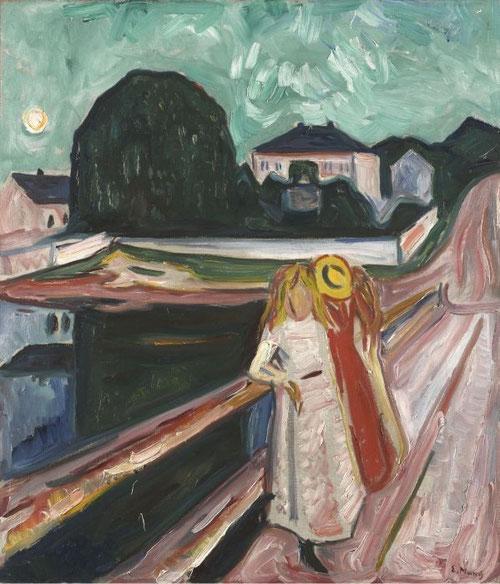 Edvard Munch - Las Mujeres en el Puente (1934 - 1940)