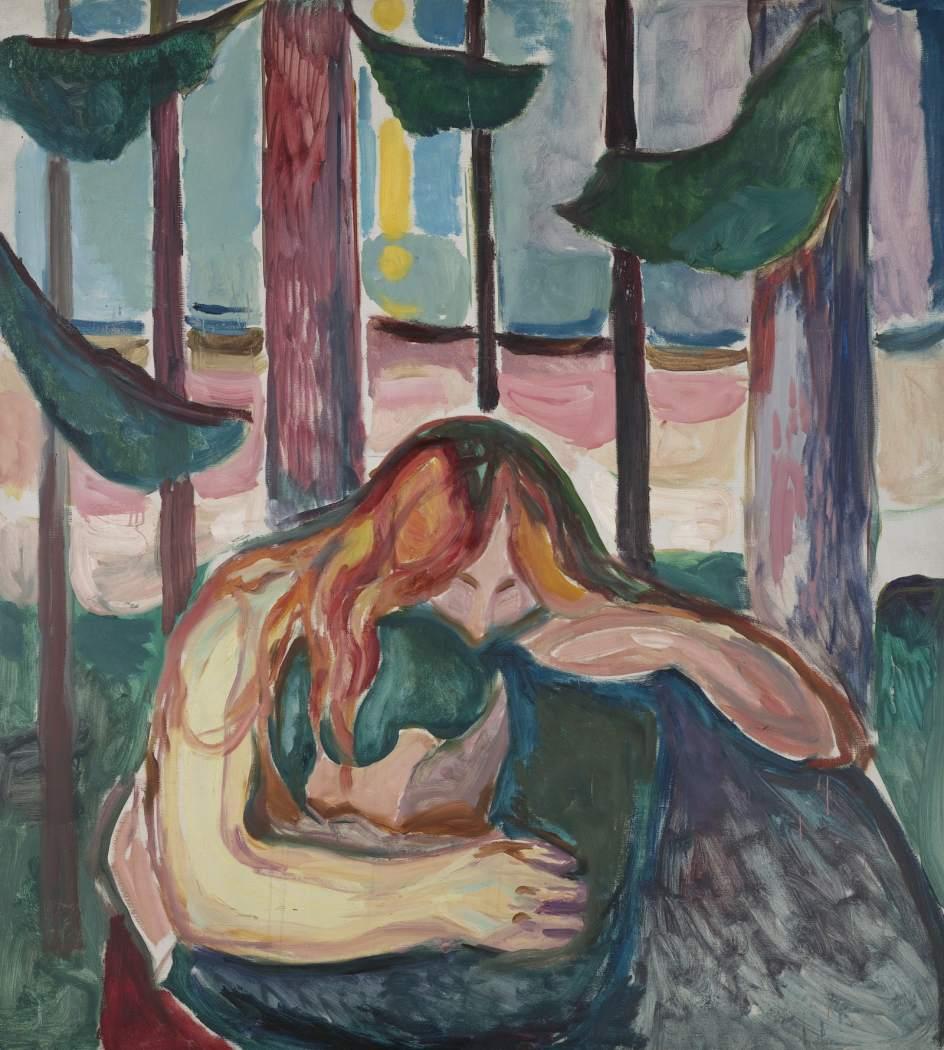 """Edvard Munch - """"Mujer Vampiro en el Bosque"""" (1916-1918)"""