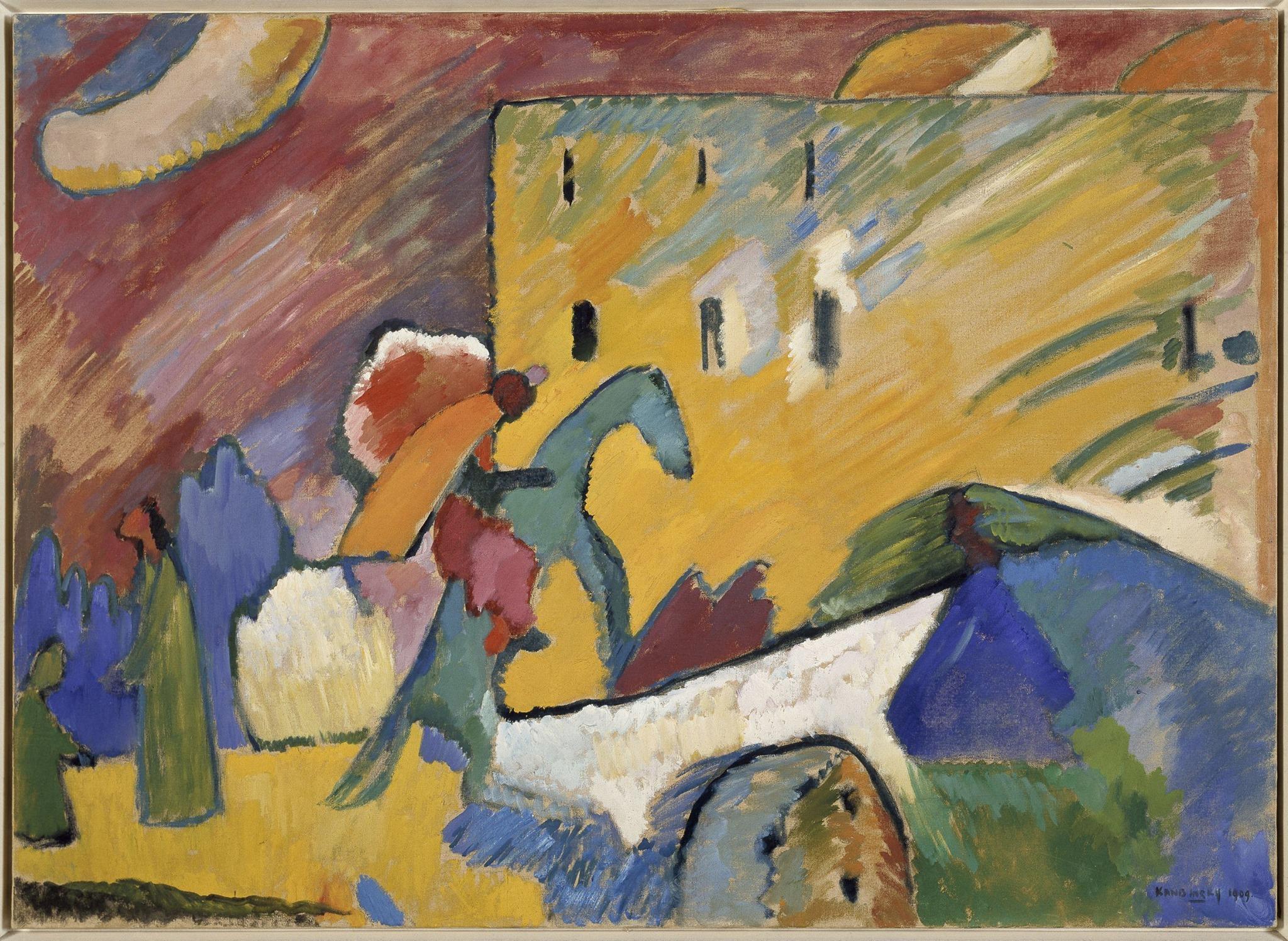 Wassily Kandinsky - Improvisación III (1909)  © Wassily Kandinsky, VEGAP. Madrid, 2015.