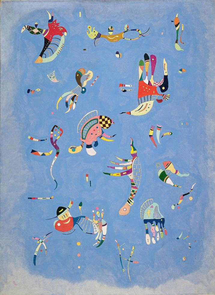 Wassily Kandinsky - Cielo Azul (1940)  © Wassily Kandinsky, VEGAP. Madrid, 2015.
