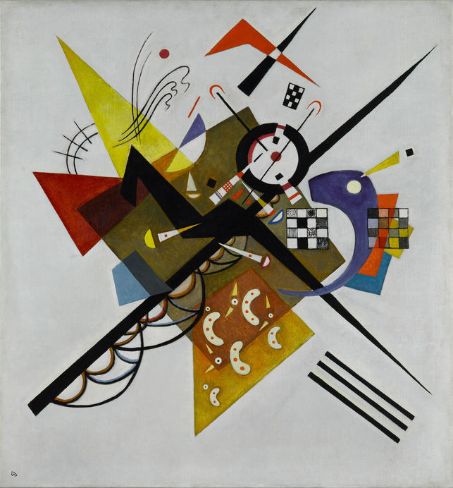 Wassily Kandinsky - Sobre Blanco II (1923)  © Wassily Kandinsky, VEGAP. Madrid, 2015.