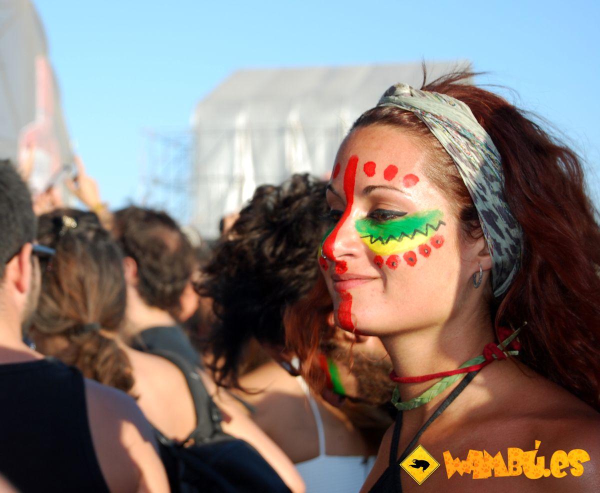 Una tripulante del barco AlRumbo Festival