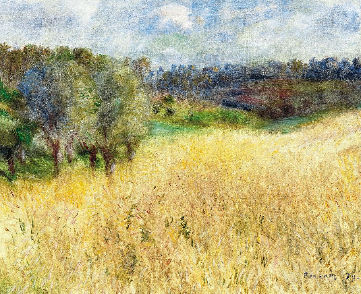 Pierre-Auguste Renoir - Campo de trigo (1879)