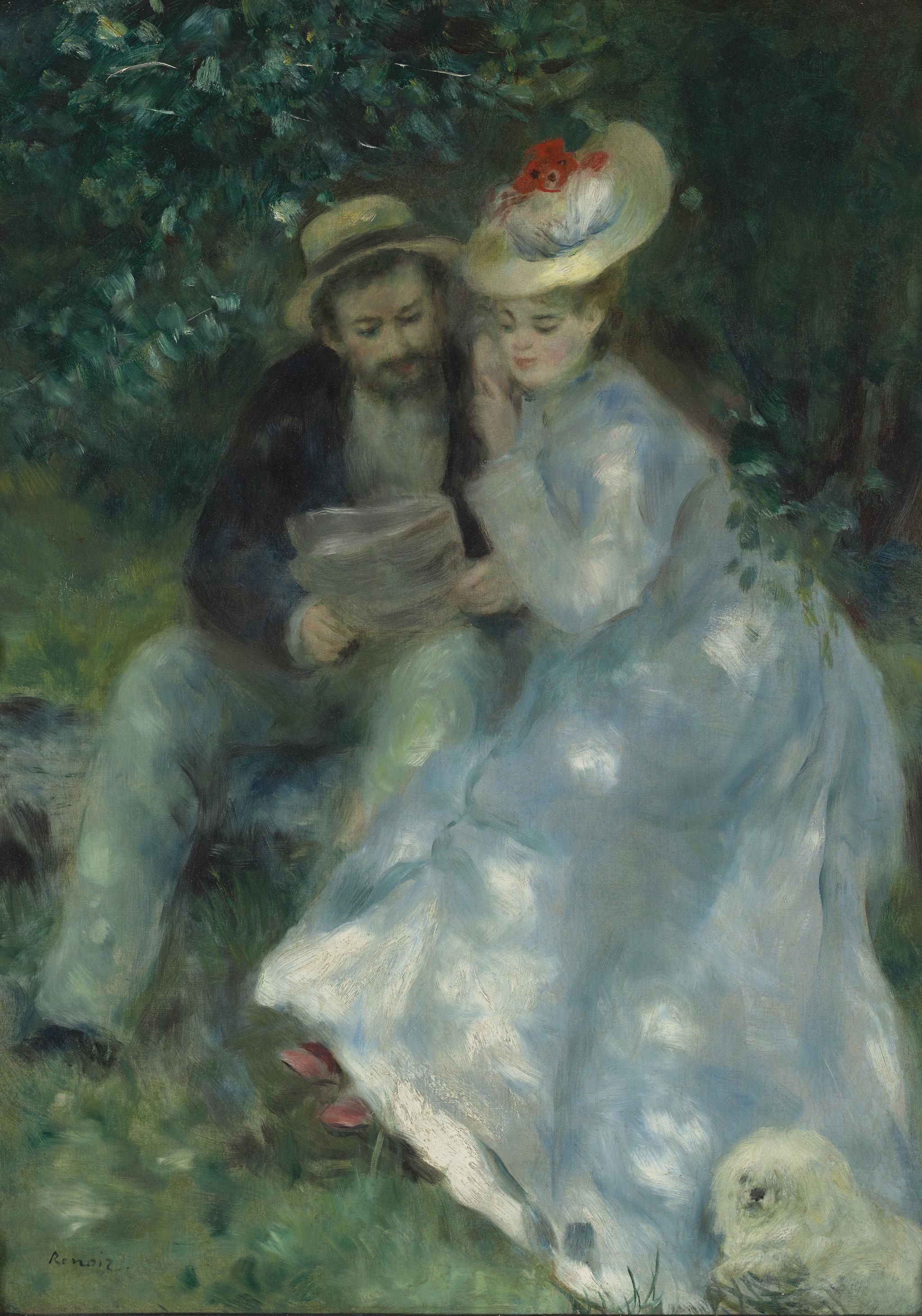 Pierre-Auguste Renoir - Confidencias (1874)