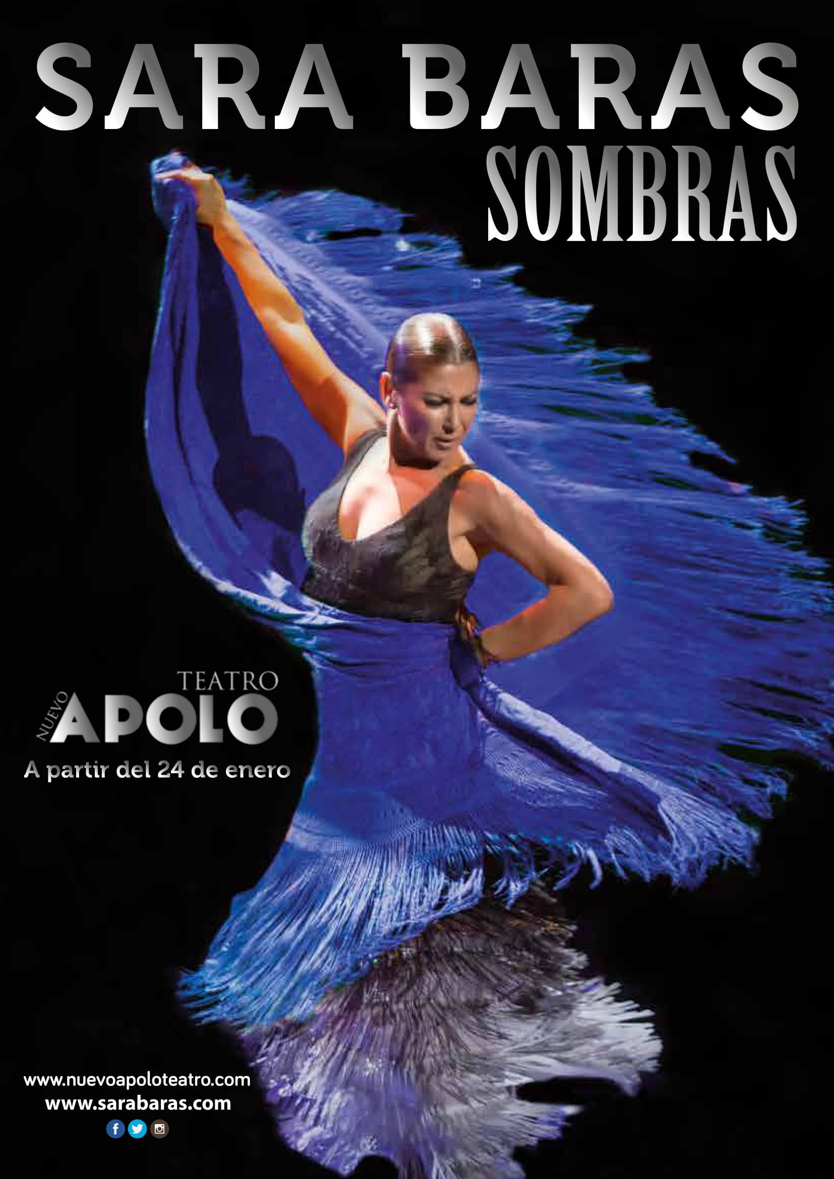 Sara Baras en su espectaculo Sombras en el Teatro Apolo